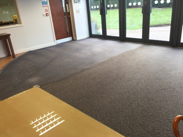 reception before SJS carpet cleaning