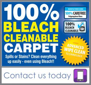 should you clean carpets with bleach