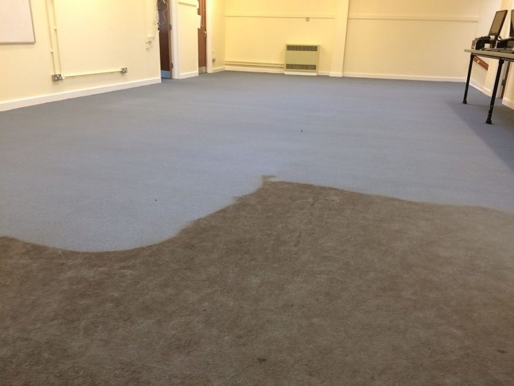 School Computer Room Carpet Part Cleaned