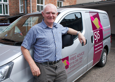stuart and the van of SJS Carpet cleaning